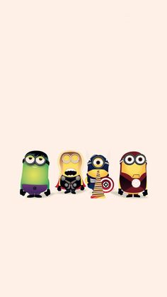 HD cartoon avengers minion apple iphone 6 plus wallpaper - Despicable Me, 2014 Halloween #iphone #wallpaper