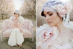 Love this gorgeous lace bridal cap...so perfect for a vintage style #wedding! From http://greenweddingshoes.com/almond-orchard-wedding-inspiration/  Photo Credit: http://thismodernromance.com/main/