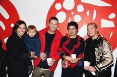 Amy, Remy and Adam Coombes, Linlee Allen and Skye Burke at our PIZZA launch party !!