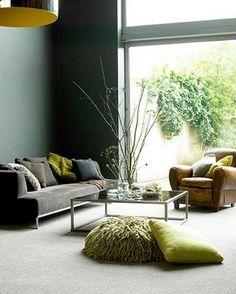 Grijs met groen interieur