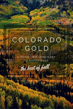 The Best Fall Colors in Colorado: A Detailed Road Trip Itinerary