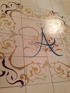 Showcase your new initials with a personalized dance floor at The Ritz-Carlton, Buckhead.#Buckhead, Atlanta, Georgia#