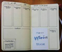 Weekly bujo layout
