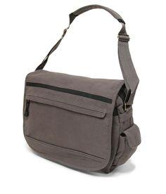 Members Small Canvas Messenger Bag in Grey (CV-0010) £19.50