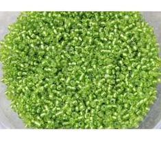 Glass Seed Beads ~ Silver Lined Lime ~ Bead Store, Czech Glass Beads, Crystal Beads, How To Dry Basil, Color Mixing, Seed Beads, Seeds, Lime, Jewelry Making