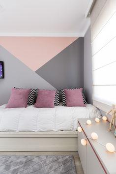 Bedroom Wall Designs, Room Design Bedroom, Room Ideas Bedroom, Small Room Bedroom, Home Decor Bedroom, Deco Studio, Pastel Room, Small Room Design, Teen Room Decor