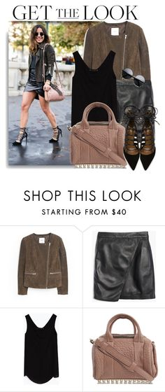 """Get The Look"" by monmondefou ❤ liked on Polyvore featuring MANGO, Madewell, Zara, Alexander Wang, Aquazzura and GetTheLook"