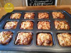 Müsli zum Mitnehmen Brownies, Brownie Pan, Mini Muffins, Snacks, Griddle Pan, French Toast, Favorite Recipes, Breakfast, Easy