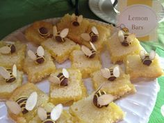 OK, these are almost too cute!  I made a different lemon bar, but made the bees as they are here.  They are so cute.  Even my husband was impressed.