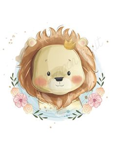 Cute Baby Lion Wearing Crown Stock Vector - Illustration of birthday, newborn: 156566890 Baby Illustration, Illustrations, Cute Drawings, Animal Drawings, Cute Images, Cute Pictures, Cartoon Mignon, Art Mignon, Baby Posters