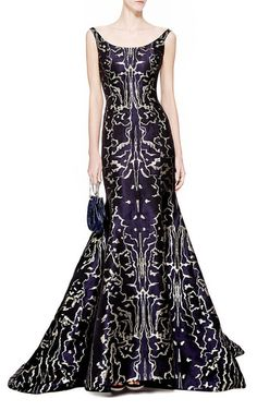 Dreamlike abstract symmetry floats across **Oscar De La Renta's** sleek…