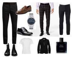 """men clasic"" by claudiaaaa-ii on Polyvore featuring Urban Pipeline, Tallia Orange, Yves Saint Laurent, Chanel, JIRI KALFAR, Givenchy, Versace, Tod's, Emporio Armani and men's fashion"