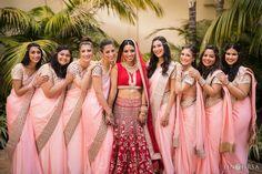 08 ritz carlton laguna niguel indian bridesmaids w Indian Wedding Bridesmaids, Indian Bridesmaid Dresses, Bridesmaid Saree, Bridesmaid Outfit, Wedding Dresses For Girls, Desi Wedding, Wedding Poses, Wedding Outfits, Punjabi Wedding