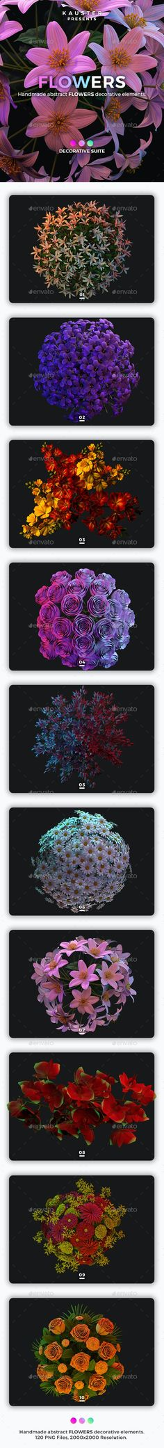Flowers Decorative Suite by kauster- | GraphicRiver