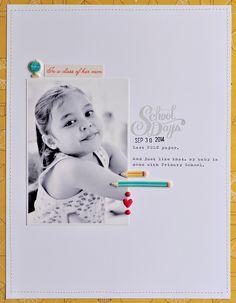 #Papercraft #scrapbook #layout.  Sasha Farina