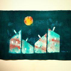 Sunny night #painting #mixedmedia #annasagok #annabies #art Medium Art, Mixed Media Art, Anna, Paintings, Night, Artwork, Instagram Posts, Work Of Art, Painting Art