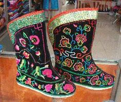 Traditional Mongolian boots