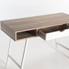 LUCA 120cm DESK White Oak, Office Desk, Furniture, Home Decor, Homemade Home Decor, Desk Office, Desk, Home Furnishings, Interior Design