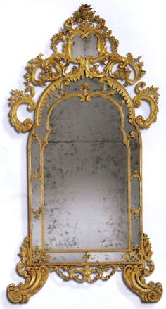 Image detail for -Antique, Very fine, Italian, giltwood mirror of large dimensions