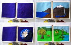Hand embroidered quiet book