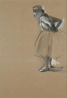 Hilaire-Germain-Edgar Degas   Standing Dancer Fastening Her Sash  ca. 1873  Gouache on paper The Ronald S. Lauder Collection, New York