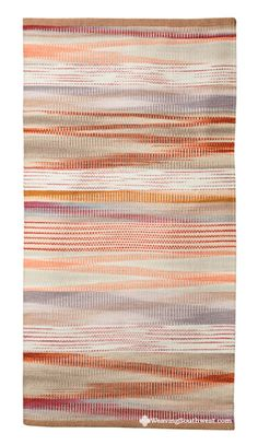 Your Daily Dose of Inspiration! Crag and Tail by Connie Enzmann-Forneris, 30″ x 57″, hand-dyed wool on linen. Enjoy!