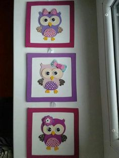 Buhos Foam Crafts, Diy And Crafts, Crafts For Kids, Arts And Crafts, Owl Nursery, Nursery Room Decor, Baby Painting, Wall Drawing, Baby Scrapbook