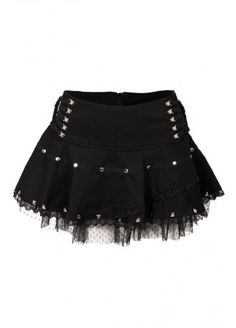 Jawbreaker Net Stud Mini Skirt | Attitude Clothing