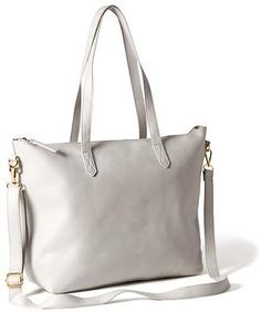 Classic Faux-Leather Zipper Tote for Women #handbags