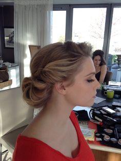 Wedding hair I did x