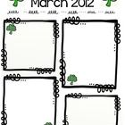This is a simple blank newsletter template for March. The frames and clip art are drawn by me. I will be adding a new blank template each month!T...