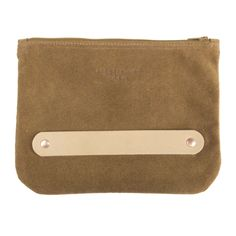 Our Leather Clutch is a cinch. Just slip your hand into the natural leather strap and hold onto your clutch with ease. It's great for a night on the town or a trip to the local market. Features:- Designed