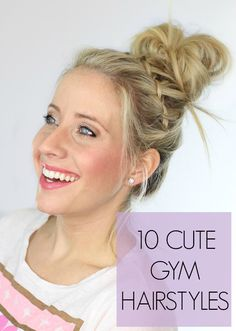 10 Cute Workout Hairstyles Knowing I look cute always gives me the confidence to work out harder. These 10 gym hairstyle tutorials are easy and adorable – I'll be glad I pinned this! Workout Hairstyles, Cute Hairstyles, Sport Hairstyles, Gym Hairstyles Easy, Everyday Hairstyles, Natural Hair Styles, Long Hair Styles, 10 Gym, Hair Dos