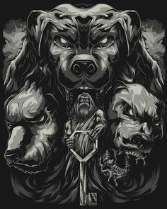 Lucifur and hes hounds of hell