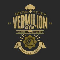 Vermilion Gym T-Shirt $12.99 Pokemon tee at Pop Up Tee!