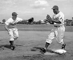 """""""I don't know any other ball player would could have done what he (Jackie Robinson) did. To be able to hit with everybody yelling at him. He had to block all that out, block out everything but this ball that is coming in at a hundred miles an hour and he's got a split second to make up his mind if it's in or out or down or coming at his head, a split second to swing. To do what he did has got to be the most tremendous thing I've ever seen in sports."""" - Pee Wee Reese"""