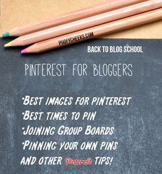 Pinterest Tips for Bloggers at poofycheeks.com