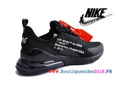 super popular 37b22 f605c Off white x Nike Air Max 270 Basketball Chaussures Pas Cher Prix Homme Noir   Blanc