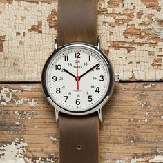 Timex Weekender with Leather Strap