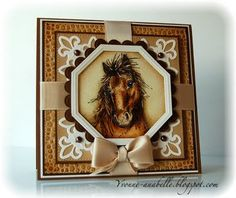 The Lovely Layered Art of Yvonne Hagane Scrapbook Paper Crafts, Scrapbook Cards, Horse Cards, Card Making Designs, Spellbinders Cards, Animal Cards, Diy Cards, Men's Cards, Greeting Cards