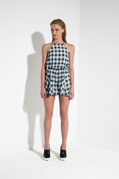 The Fifth FRONT SEAT PLAYSUIT TARTAN - BNKR