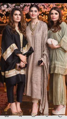 Stylish Dresses For Girls, Stylish Dress Designs, Baby Girl Dresses, Simple Dresses, Casual Dresses, Ladies Kurti Design, Kurta Designs Women, Pakistani Wedding Outfits, Pakistani Dresses