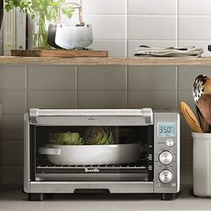 Breville Smart Oven Air with Super Convection Stainless Steel Toaster, Countertop Oven, Mini Kitchen, Kitchen Ware, Honey Recipes, Microwave Oven, Compact Microwave, Small Space Living, Gifts