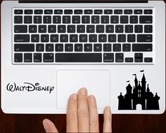 Disney castle Decal Sticker Vinyl For All Laptop Keyboard Design.