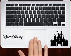 Disney castle Decal Sticker Vinyl For All Laptop Keyboard Design.