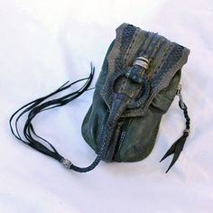KM RII Green Leather Belt Pouch.  If Giger ever designed a pouch for aliens, this could be it.