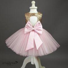 Princess Kate Dress (Gold & Pink) - Itty Bitty Toes - 5