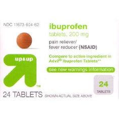 Use the printable Target coupon to get Up and Up Ibuprofen for FREE!