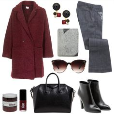 Today inspire yourself with this winter woman look  Burgundy coat, black details and flare denim jeans by Seafarer  #seafarer #seafarerjeans #look #outfit #denim #jeans #ƒall #winter #collection #woman #apparel #classy #style