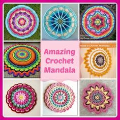 Crochet Mandalas – Page 4 Free Mandala Crochet Patterns, Crochet Circles, Crochet Designs, Knitting Patterns, Form Crochet, Crochet Blocks, Crochet Motif, Crochet Doilies, Crochet Cowls